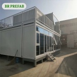 modern flat container house for dormitory